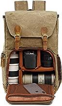 DSLR Camera Backpack,Savman Waterproof Canvas Photography Camera Bag Case for Men Women Canon Nikon Sony Pentax DSLR Cameras,Lens,Tripod, Laptop and Accessories for Outdoor Travel Hiking (Khaki)