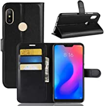 For Xiaomi Redmi Note 6 Pro Leather Wallet Case Cover, Folding Kickstand with ID Card & Cash Slots, Magnetic Clasp Closure
