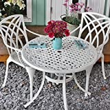 <span class='highlight'>Lazy</span> <span class='highlight'>Susan</span> Hannah Table & 2 April Chairs - White | 90cm round outdoor <span class='highlight'>furniture</span> set