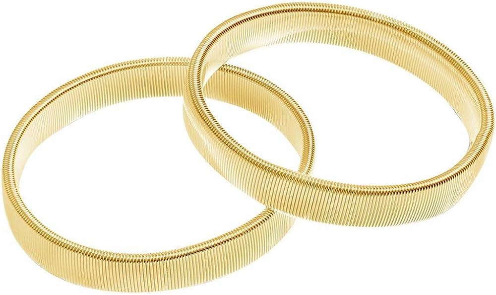David Van Hagen Mens Shirt Armband - Gold