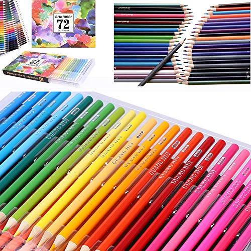 yanqiu 72 kleuren professionele olie aquarel potloden set kunstenaars schilderij schetsen potlood