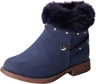 Nicole Miller Girl's Shoes - Winter High Top Ankle Boots with Faux-Fur Collar (Toddler)