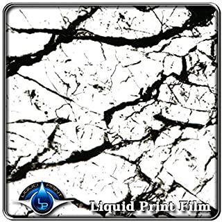 Hydrographics Film - Water Transfer Printing Film - Hydro Dipping- 10 foot roll. MS-995 - Black & CLEAR Marble