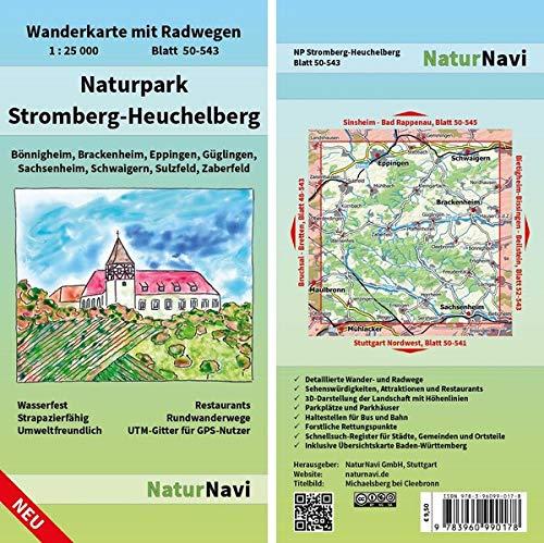 Naturpark Stromberg-Heuchelberg: Wanderkarte mit Radwegen, Blatt 50-543, 1 : 25 000, Bönnigheim, Brackenheim, Eppingen, Güglingen, Sachsenheim, ... (NaturNavi Wanderkarte mit Radwegen 1:25 000)