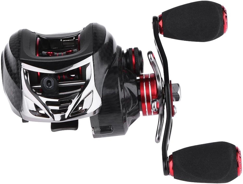 DomyBeste 18+1BB Ball Beaing 6.3 1 Dual Brake Low Profile Fishing Reel Spinning Spool