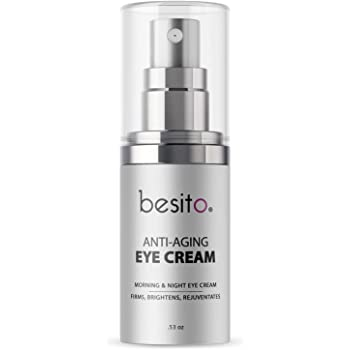Anti Aging Eye Cream for Dark Circles and Puffiness, Eye Bags, Crow's Feet, Fine Lines, and Sagginess