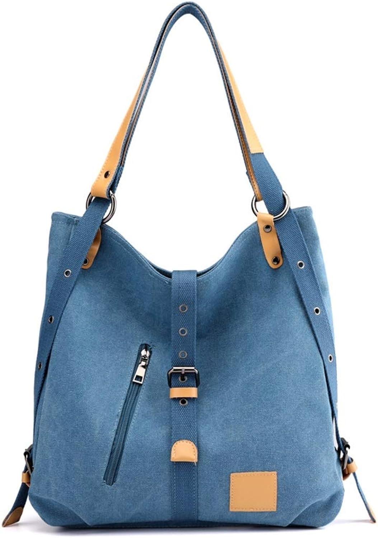 GSAYDNEE Frauen Umhängetaschen Lässige Vintage Style Canvas Handtaschen Tote Crossbody Crossbody Crossbody Reisetaschen (Farbe   Blau) B07PLH5LZ2  Attraktiv und langlebig f9d1b0