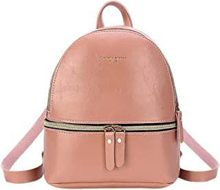 Waymine Women's Shoulder Bag Small Solid Backpack Letter Soft PU Purse Phone Coin Messenger Bag