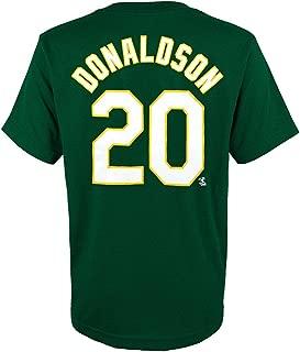 adidas Josh Donaldson Oakland Athletics MLB Green Jersey T-Shirt for Youth