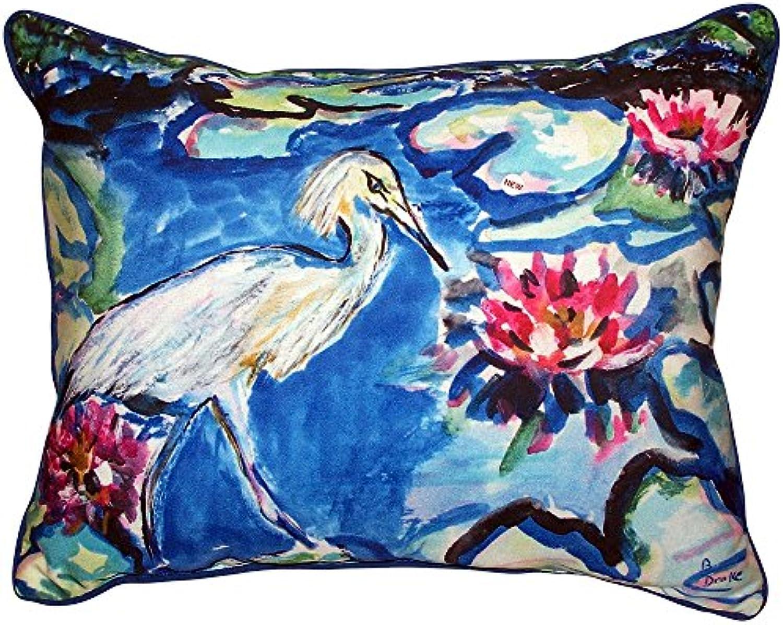 Betsy Drake ZP551 ZP551 ZP551 Heron & Waterlilies Zipperot Pillow,20