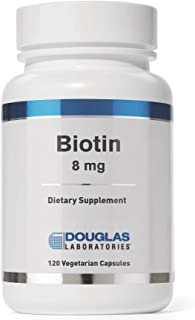 Douglas Laboratories - Biotin 8 mg - Vitamin B7 to Support Glucose Metabolism, Enzyme Production and Nerve Function - 120 ...
