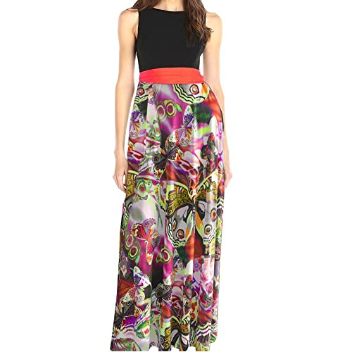 New Ladies Dress Maxi Womens Plus Size Animal Print Party Butterfly Tie Nouvelle