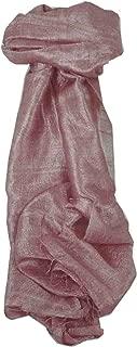 Pure Raw Silk Long Scarf Saigon Lua Van Weave Amethyst by Pashmina & Silk
