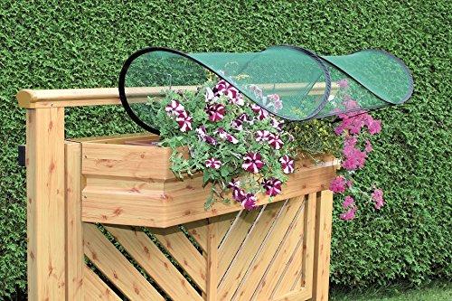 GardenGuard Balkonblumenschutz, 4er Set, Regenschutz für Balkonkästen