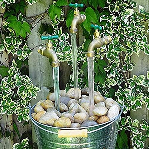 FZHGHJT Fuente de regadera con Pico Que Fluye Invisible, Fuente de Grifo Flotante, Fuentes de Mesa mágicas al Aire Libre para decoración de Arte de jardín de Bricolaje