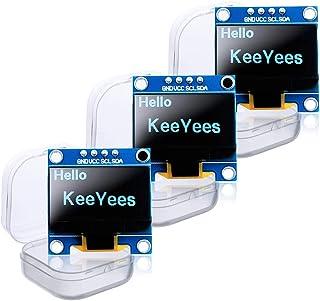 KeeYees OLEDモジュール OLED LCDディスプレイ 0.96インチ I2C IIC 128X64 SSD1306 4ピン 青 ブルー 3個入り