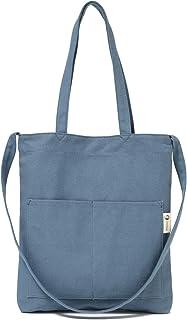 bc42e06b5 Canvas Tote Bag Handbag Shoulder Bag Crossbody Bags Purses For Men & Women