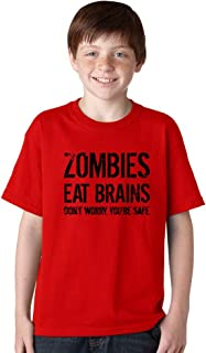 Youth Zombies Eat Brains Shirt Funny T Shirt Living Dead Halloween Outbreak Tee
