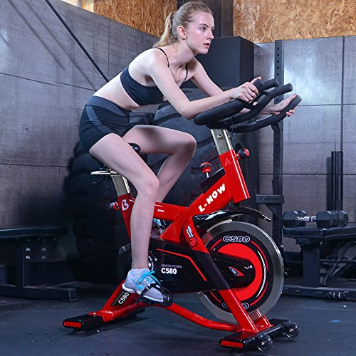 Read About L NOW Indoor Cycling Bike Exercise Bike Stationary- Commercial Standard for Home Cardio W...