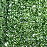 Joocyee 50X50Cm Valla de privacidad de Hiedra Artificial simulación setos de Hojas de Plantas para decoración de Boda de Flores secas al Aire Libre, I