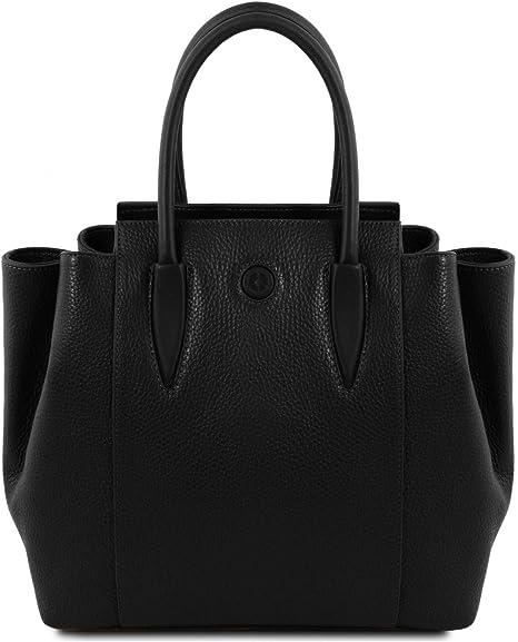 Tuscany Leather Tulipan Leather Handbag - TL141727 (Black)