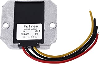 Demiawaking Spannungsumformer, Gleichstrom, Adapter fürs Auto (12V/24V zu 6V 5A)