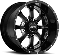 SOTA Offroad 561DM Novakane Death Metal Black Wheel with Painted Finish and 17 (22 x 12. inches /8 x 170 mm, -51 mm Offset)