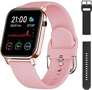Smartwatch, Reloj Inteligente Impermeable IP68 Reloj Deportivo con Pulsómetro, El Clima,Notificaciones,15 Modos de Deportes y GPS, Monitor de Sueño 1.4