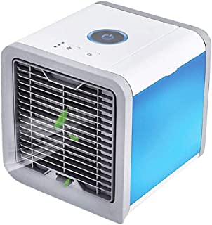 Zhangapn1 - Miniventilador de escritorio portátil, 3 velocidades, potente agua, ventilador humidificador para oficina, dormitorio, 5 W, alimentado por USB