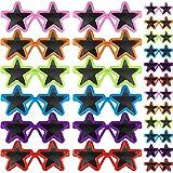 24 Paia di Occhiali da Sole Stella per Bambini Occhiali da Sole con Stelle al Neon Occhiali a Forma di Stella Bomboniere per Feste in Stile Retrò Anni '80 per Bambini Spiaggia Estiva