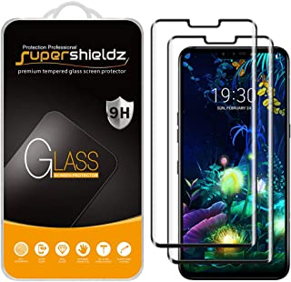 (2 Pack) Supershieldz Designed for LG V50 ThinQ Tempered Glass Screen Protector, (Full Cover) (3D Curved Glass) Anti Scrat...