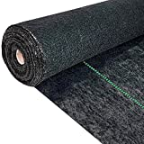 Inslat 5.8oz Weed Barrier Landscape Fabric Heavy Duty, 1.4 X 100 Ft Pro Ground Cover Garden Lawn Fabric Weed Control Block Cloth Mat for Flower Bed Vegetable Black