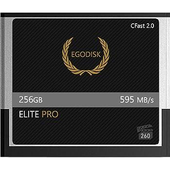 EgoDisk Elite PRO 256GB CFast 2.0 Card-(BLACKMAGIC URSA Mini | BMPCC Pocket | 4K • 4.6K • 6K | Canon • XC10 • XC15 • 1DX MARKII • C200 • C300 | HASSELBLAD H6D-50C • H6D-100C) - 3 Year Warranty