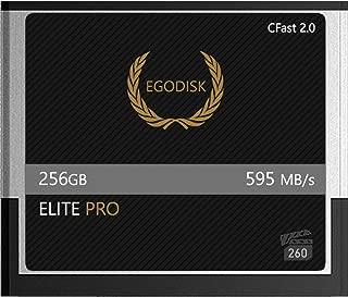 EgoDisk Elite PRO 256GB CFast 2.0 Card-(BLACKMAGIC URSA Mini   BMPCC Pocket   4K • 4.6K   Canon • XC10 • XC15 • 1DX MARKII • C200 • C300   HASSELBLAD H6D-50C • H6D-100C   ATOMOS) - 3 Year Warranty