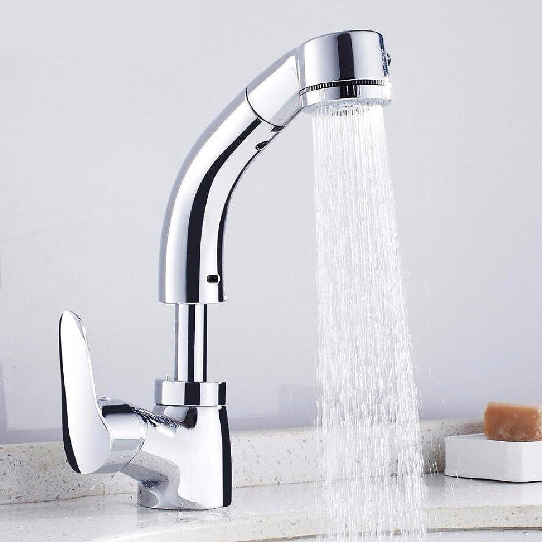 Bijjaladeva Wasserhahn Bad Wasserfall Mischbatterie Waschbecken Waschtisch Armatur für BadezimmerDie Messinggehuse Ziehen Waschbecken Wasserhahn Lift Teleskop Rotary Mixer