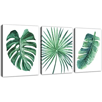 Amazon Com Green Leaf Wall Art Tropical Plants Pictures Wall Decor Simple Life Canvas Artwork 3 Pieces Contemporary Canvas Art Minimalist Watercolor Painting Monstera Palm Banana Leaves For Bathroom Living Room Bedroom Wall Silhouette of a plant in a contemporary simple abstract style. green leaf wall art tropical plants pictures wall decor simple life canvas artwork 3 pieces contemporary canvas art minimalist watercolor painting