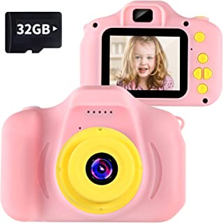 "Kids Camera Children Digital Cameras Toy 1080P 2.0"" HD Toddler Video Recorder Shockproof Great Gifts for Kids Gifts for 3-..."
