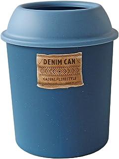 八幡化成 ダストボックス way-be DENIM CAN(デニムカン) フタ付き 5L ブルー
