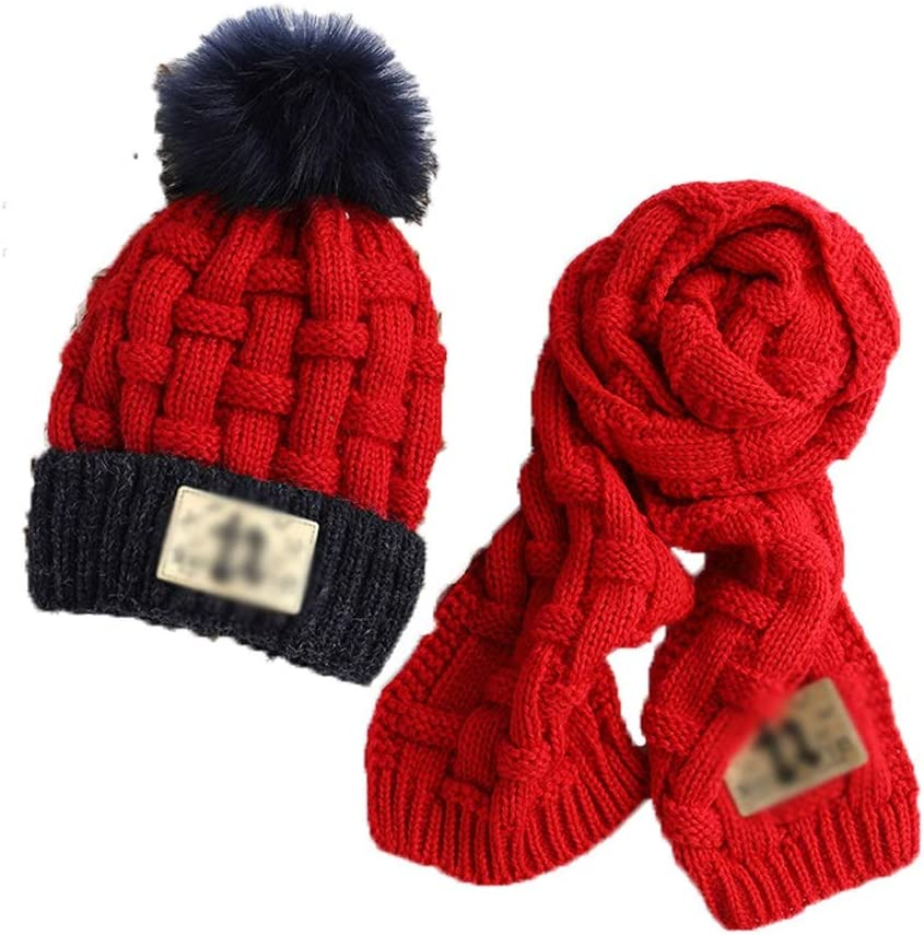 SPNEC Winter Soft Knit Easy-to-use Hat Japan Maker New Scarf Kids Set Thickened Novelty Bean