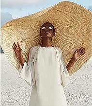 XGao Sunhat Womens, Womens Sun Hats for Women Oversized Straw Beach Wide Brim Hat Floppy Summer Sunhat Lightweight Foldable Packable Decorative (A Khaki)