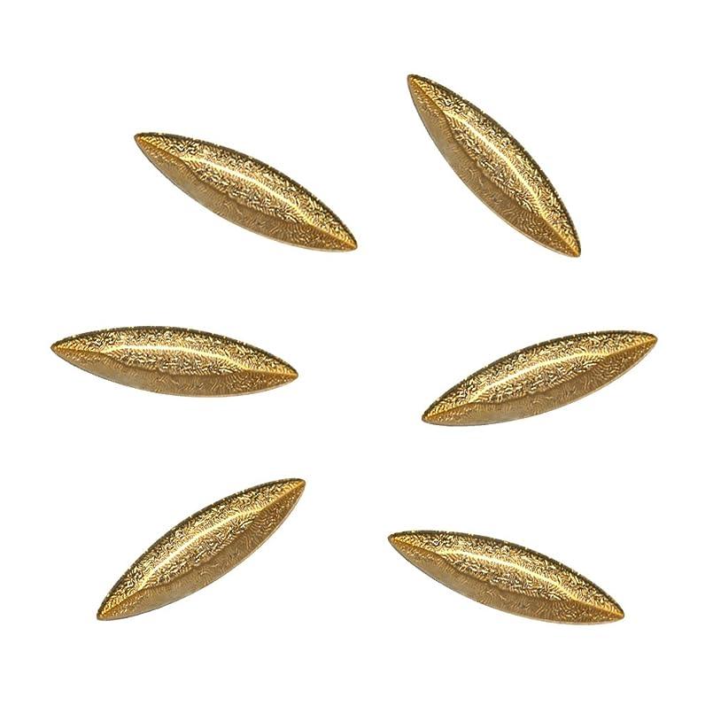 止まるバースト止まるBonail&RieNofuji ネイルパーツ Diamant Leaf Gold 6P