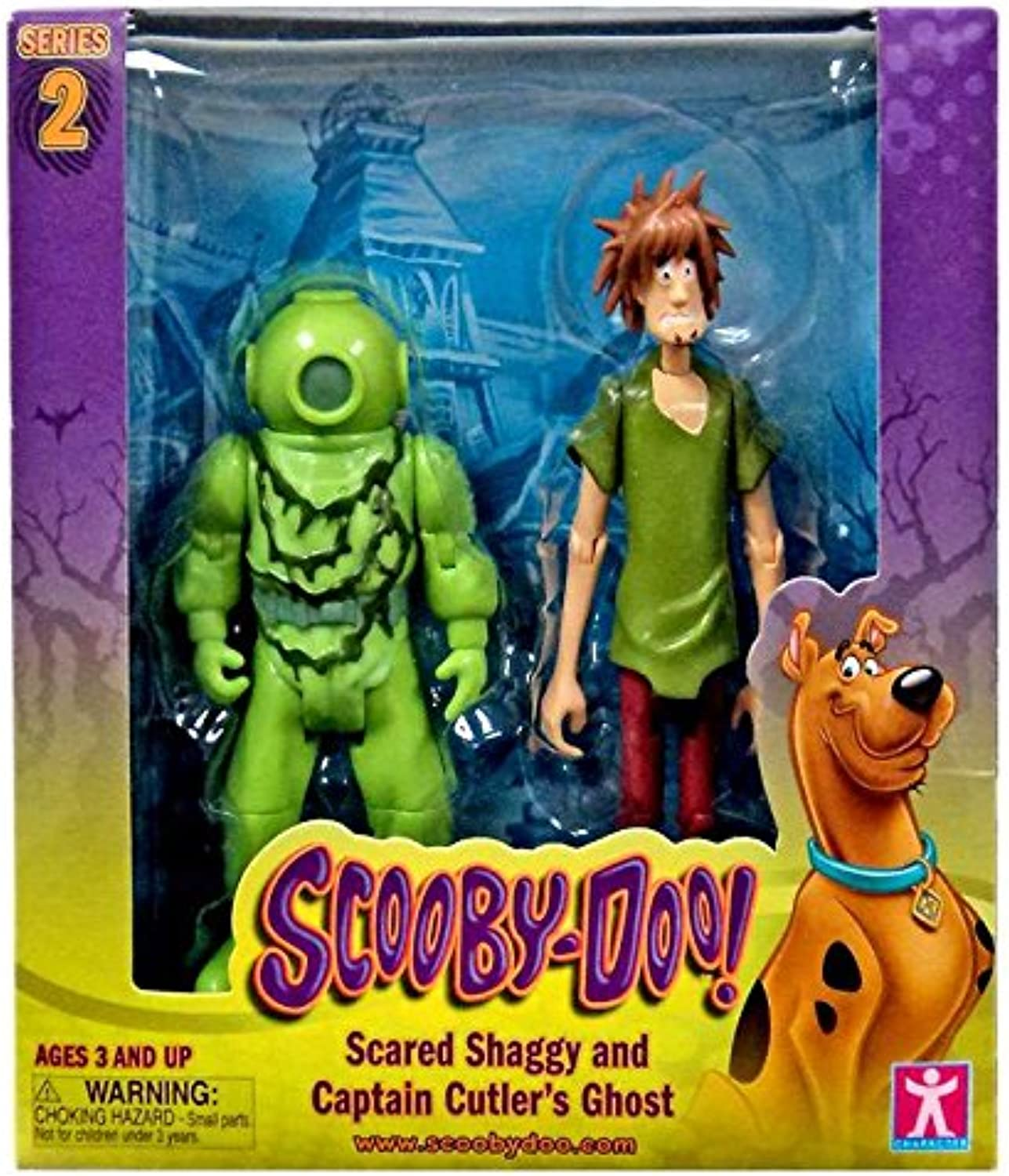 Scooby Doo, Series 2 Scared Shaggy and Captain Cutler's Ghost Action Figures