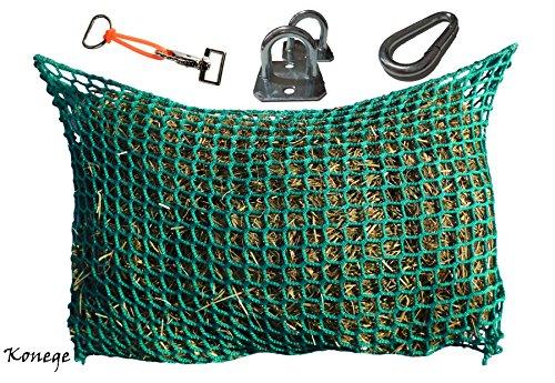 Konege Heunetztasche Maxi QUER Safe-Gum Set - 1,0m Breit, 0,75 Höhe, Mw 3,0cm, Füllmenge ca. 5Kg, Heunetz