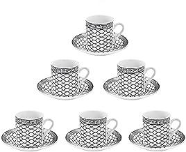 Jogo de xícara para café egito 12 peças em porcelana