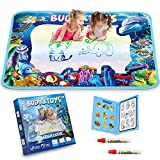 [LATEST 2020] Educational Toys Gifts for Toddler Boys Girl Age 2 3 Year Old, Aqua Magic Doodle Mat 40 X 28 Inches Extra Large, Art Activities Water Drawing Doodling Coloring Mats - USA Patented Design