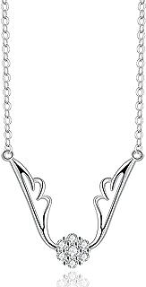Pendant Necklaces Women Silver Zircon Silver Necklace Chain 22.8Mm Choker Necklaces for Women