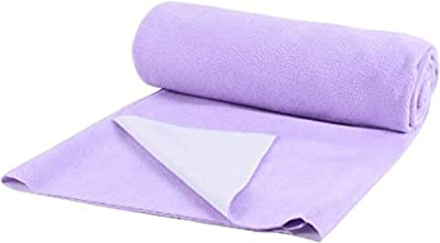 Trance Waterproof Breathable Non Toxic Bed Protector Dry Sheet (Purple, King)