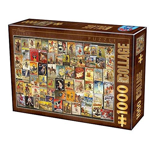 Unbekannt Puzzle 1000 Teile - Vintage Collage - Bicycle