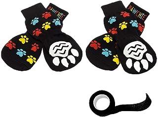 PAWCHIE Anti-Slip Dog Socks for Hardwood Floors, Pet Paw Protection for Injured Paw, Indoor Wear