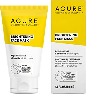 ACURE Brightening Face Mask | 100% Vegan | For A Brighter Appearance | Argan Extract & Chlorella - Detoxes, Conditions & M...